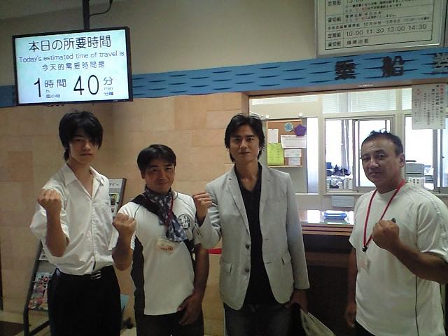 イケメン俳優の原田龍二さんが来 イケメン俳優の原田龍二さんが来られました